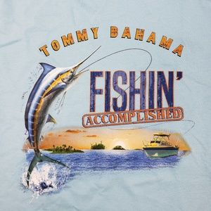 Tommy Bahama Mens Fishing Accomplished Tee New